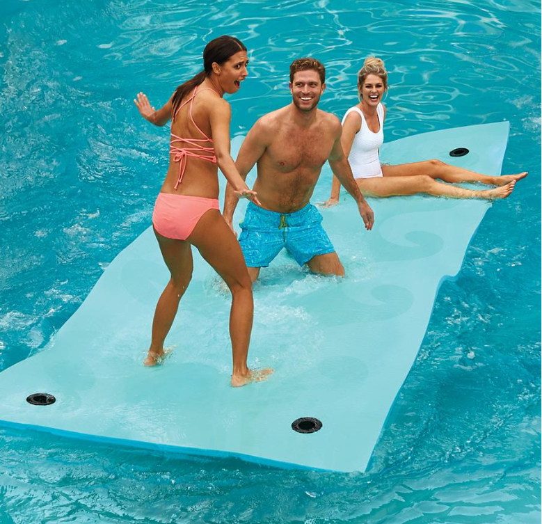 For Your Next Raft Up The Aqua Beach Wave Floating Party Mat Cruising Odyssey