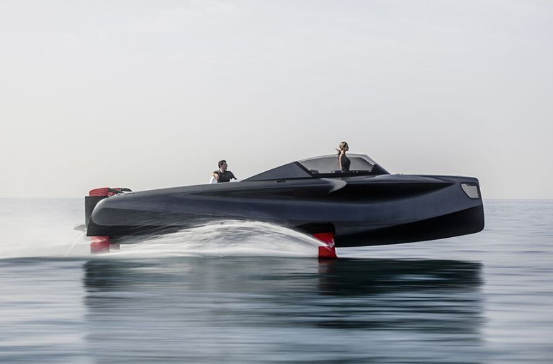 New Futuristic Foiler, with Top Speed of 40 Knots, Now on