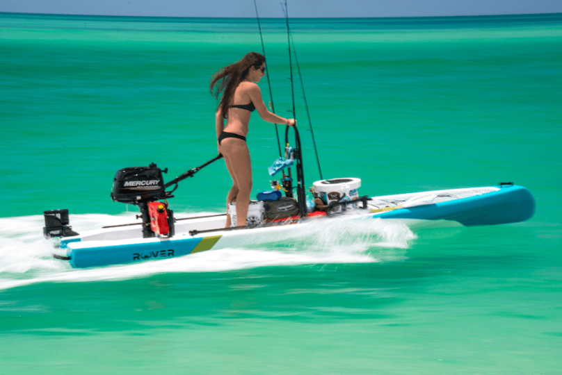 New BOTE Inflatable SUP Comes with 6-hp Outboard, Fits in a Bag
