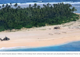 3 Men Stranded on Pacific Island Saved by SOS in Sand