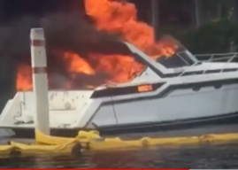 Boat Fire Burns 13 in Lauderdale Music Video Shoot